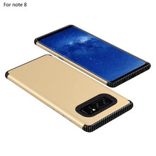 Creative Luxury NEW TPU+PC Carbon Fiber Phone Case for Samsung Galaxy Note8