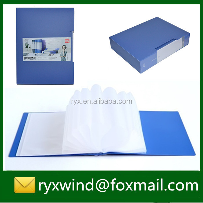 Easy carry pp material clear pocket presentation display book