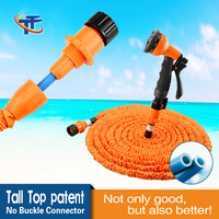 Tall-Top Patented 2016 New Expandable Hose Flexible Garden Water Hose Pipe With No Buckle Tech Soft Connector Orange TA80050-42