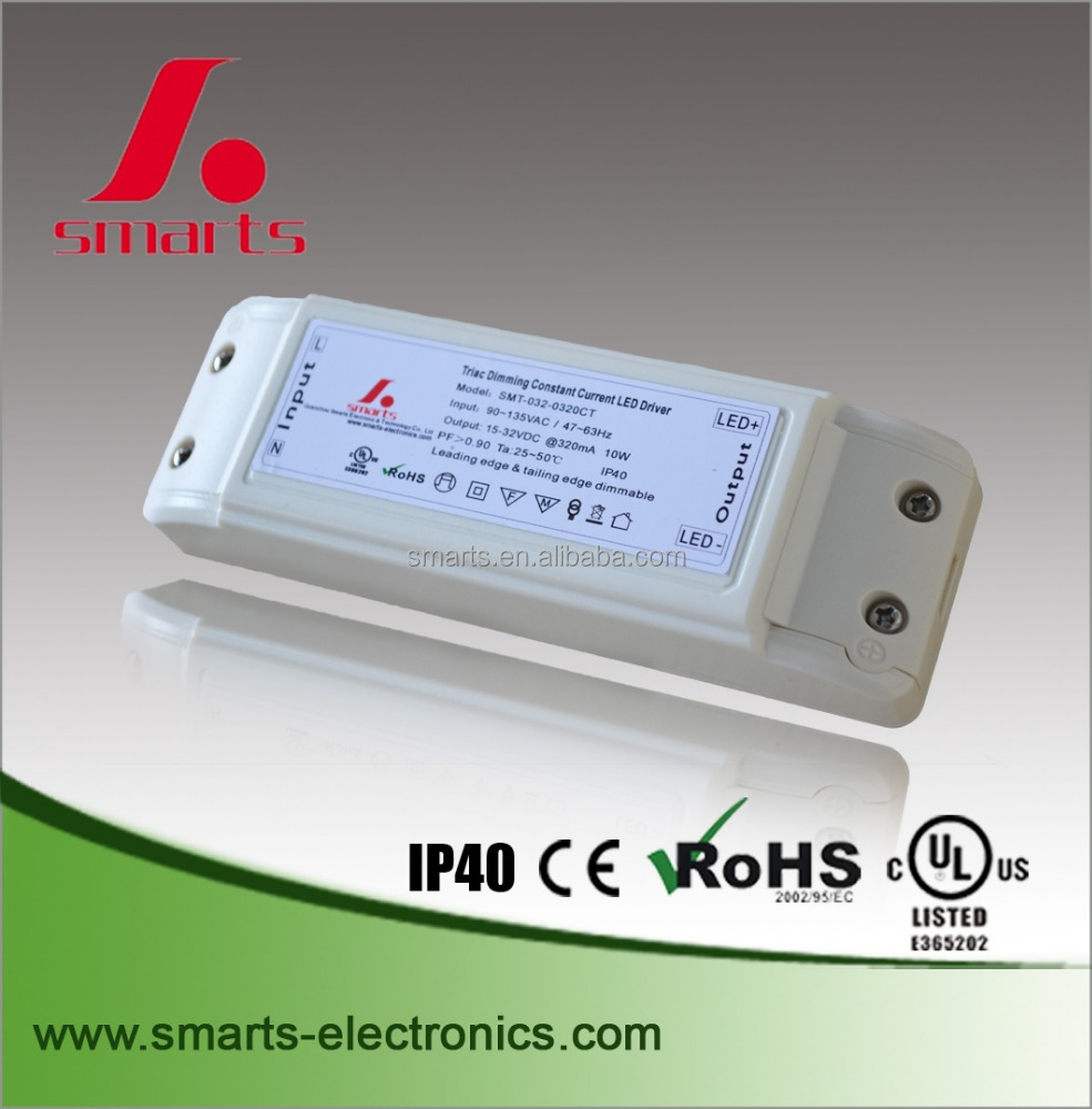 15-32v 10w plastic ip40 led dimmable driver 320mA 300ma