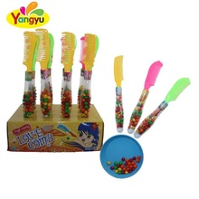 Halal Comb Toy Colourful Sweet Crispy Sugar Coated Chocolate Beans