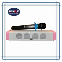 Mini Karaoke soundbar with handheld wireless microphone