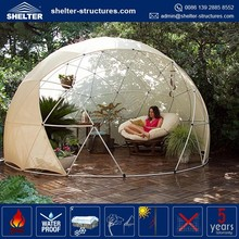 Shelter high quality metal frame fiberglass dome house, dome geodesic
