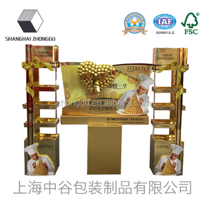 Retail Cardboard Display POP Floor Display Stand For Drink or Food