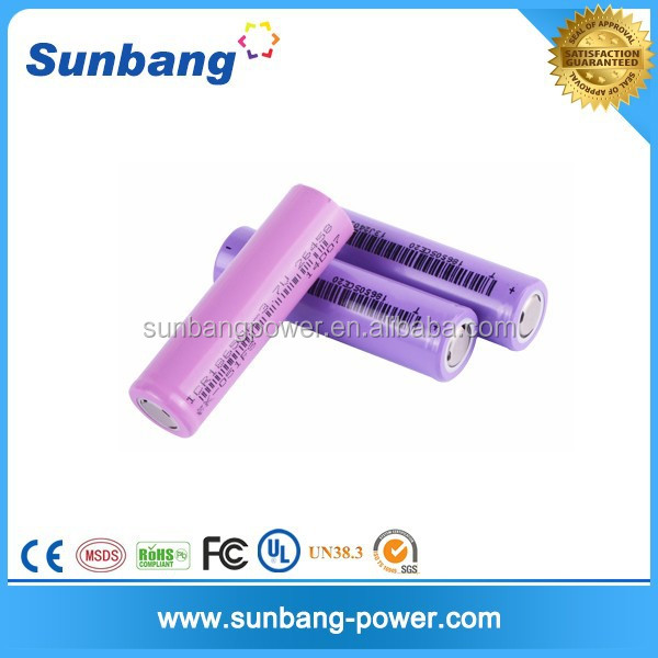 famous brand rechargeable 3.7v 2600mah li ion 18650 battery for battery operated car jack