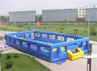 inflatable football court / inflatable foosball field CE air blower