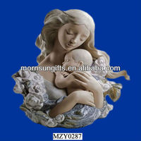 Loving Mother Hugging Her Baby, Custom Lady Figurine