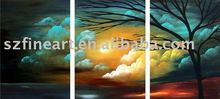Handmde beautiful landscape abstract paintings with description of painting