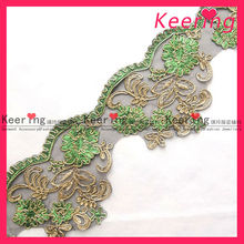 2013 new design indian embroidery lace jacquard lace wholesale stock WTP-924