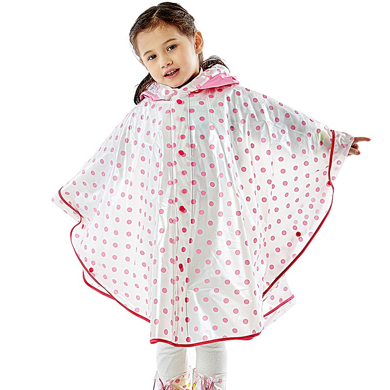 Fashion Hign Quality PVC Printing Cute Kid Rain Coat