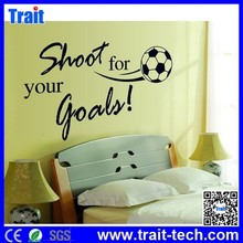 DIY Shot for your good Wall Stickers Removable Stickers with football pattern for Kids Room,wholesale wall sticker