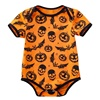 Newborn Infant Baby Boy Girl Snowflake Pumpkin Bat Romper Cotton