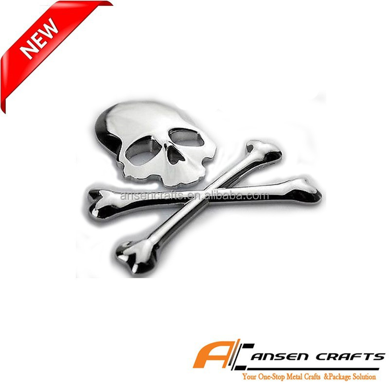 3D Skull Metal Auto Styling Car Badges Emblems
