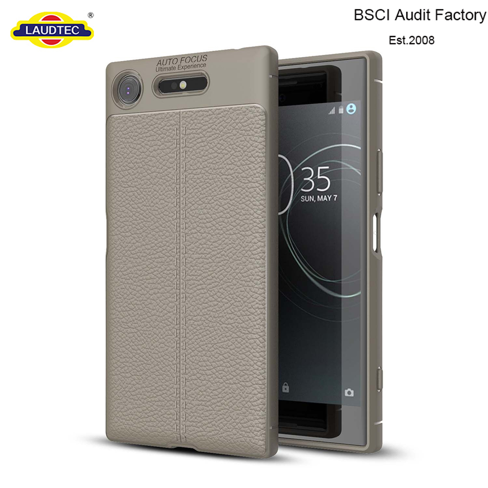 Leather Pattern Soft TPU Bumper Case Cover For Sony Xperia XZ1