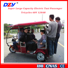 Super Large Capacity Electric Taxi Passenger Tricycles 60V 120AH