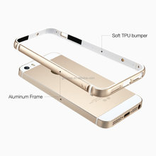 Ultralight Metal Aluminum Frame With Inner TPU Bumper Case Cover For iPhone 5 5S SE