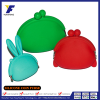Promotional Silicon Kids Coin Purse/Mini Money Bag With Golden Supplier
