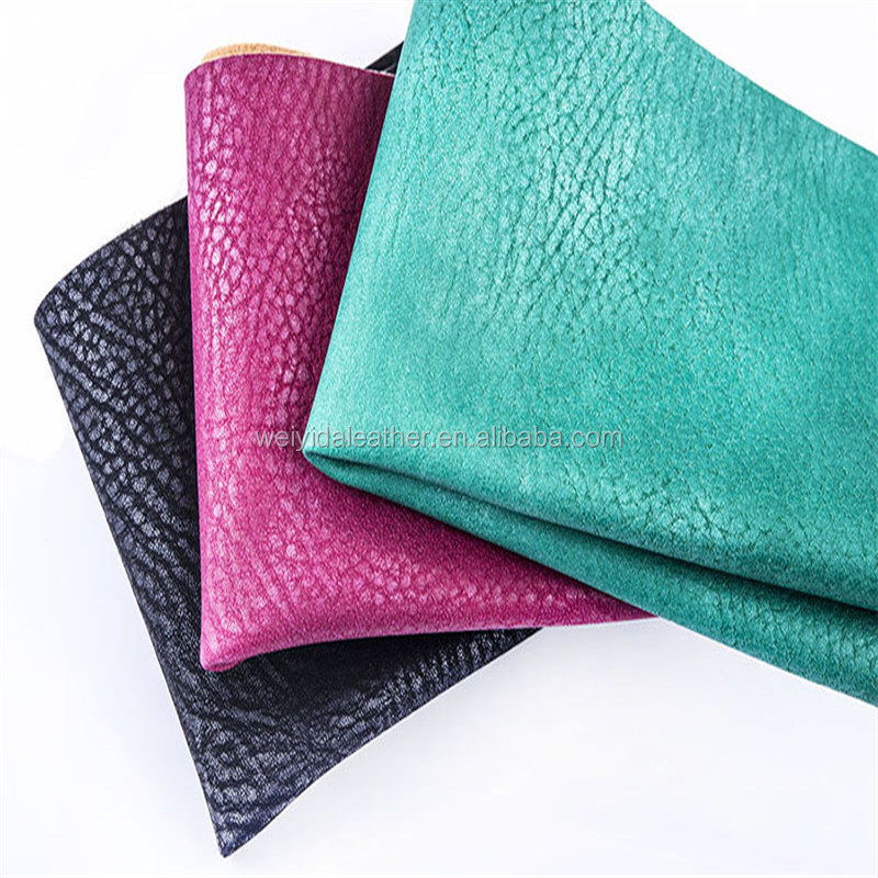 embossed pu synthetic leather material for ladies handbag/sofa cover