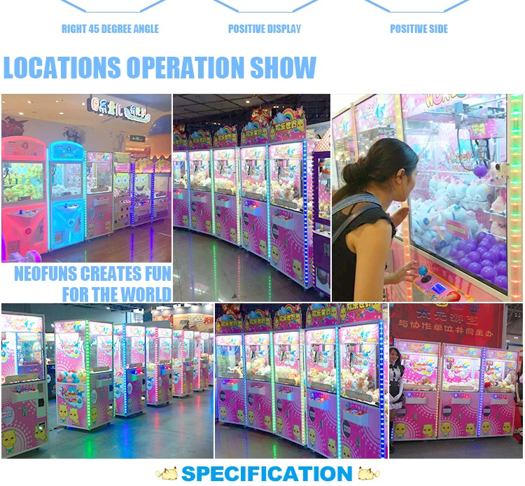 China Manufacturer Coin Operated Happy World Doll Grabbing Prize Crane Machine