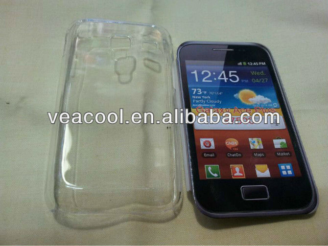 Clear Rubber Hard Case Cover for Samsung Galaxy Ace Plus S7500