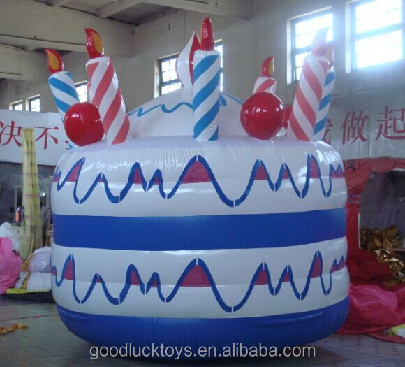 replica decoration display Hot sale giant inflatable birthday cake balloon model for advertising