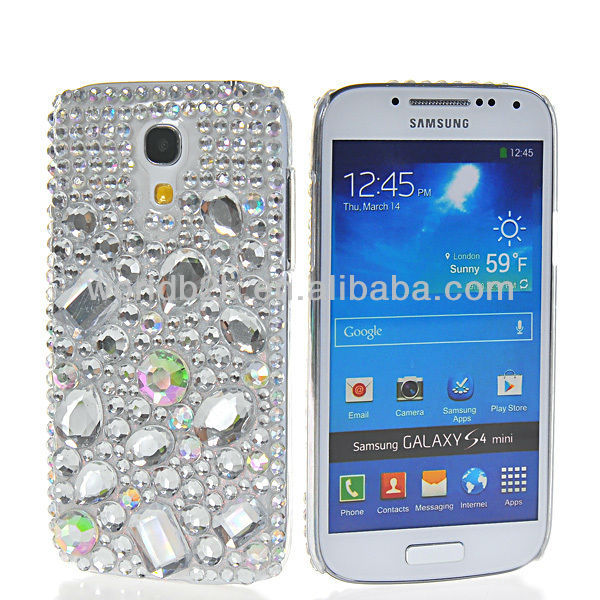 Bling Bling Rhinestone Hard Back Case Cover For Samsung Galaxy S4 Mini, With Many Design are available