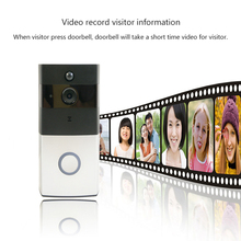 WiFi Smart Visual Intercom Enabled Video Doorbell with Battery Powered Phone Remote Control Indoor Chimes