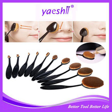 Yashi 10pcs Toothbrush Shaped Foundation Power Makeup Oval Cream Puff Brushes Set