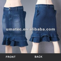 Female Low Waist Knitted Skirts