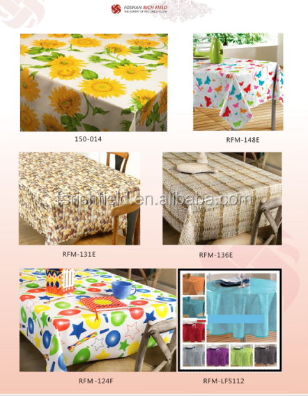 New design vinyl pvc printed coated table cloth