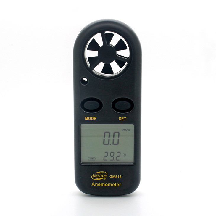 Digital anemometer instrument to measure wind speed meter wind direction meter thermal anemometer wireless anemometer GM816