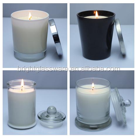 High Quality Glass Candle Jar Storage Jar With Lid