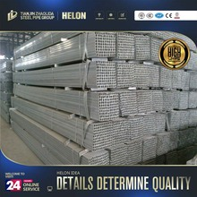 Hot-dip Galvanized Square Tube / tianjin mill gi square steel pipe