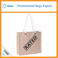 2015 Eco-friendly OEM production Jute shopping bag foldable cute shop bags