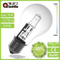 ECO Halogen A60 COLOR CLEAR bulb - energy saving halogen bulb - halogen class c lamps -light bulb