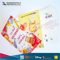 OEM Paper Greeting Cards Printing With