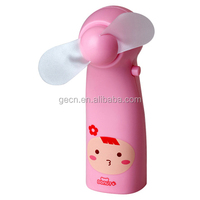 Cartoon Mini Portable Bestseller Fan Battery Operated Doll Hand Fan Kawaii Series Small Fan
