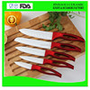 high quality 5 pcs ceramic knife set with stand