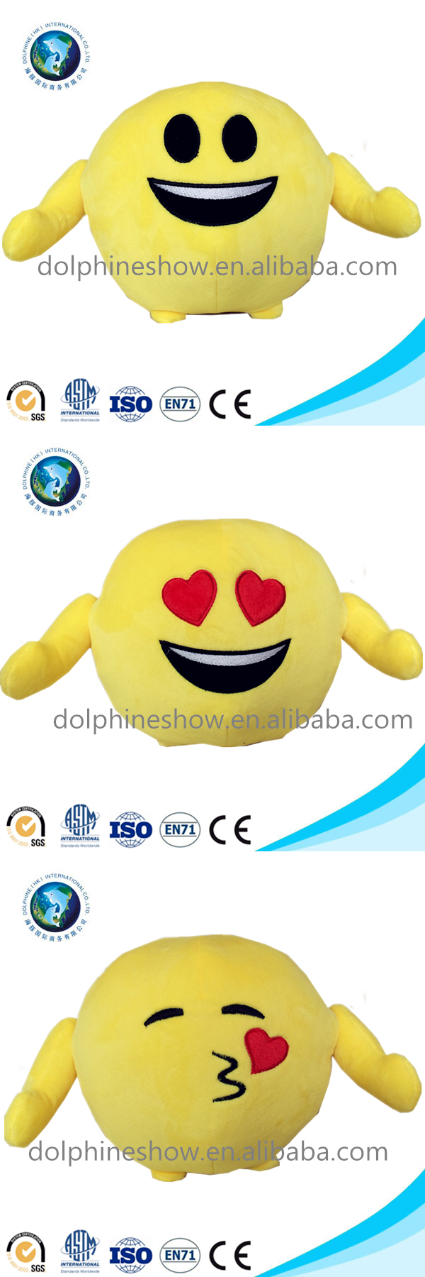 Different types custom cute emoji pillow cushion doll cheap stuffed soft toy plush emoji pillow