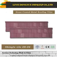 coated roofing sheet for villa hongbo shake stone coated metal roof tile