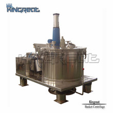 Various capacity vertical type scraper bottom discharge top load centrifuge