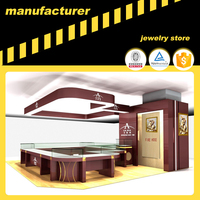 lockable tempered glass window jewelry kiosk interior design wooden jewelry display case pandora jewelry shop counter