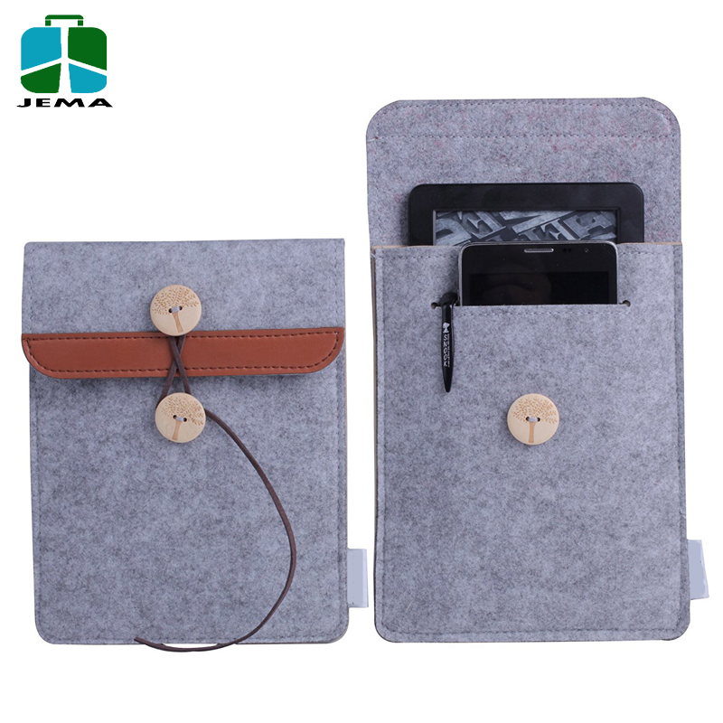 Premium 2 Pack Durable Tablet Cover 6 inch Felt laptop Sleeve Case wholesale for Kindle Paperwhite and Voyage