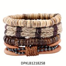 Simple Style Mens Jewelry Wholesale Cuff Handmade Silver Genuine Braided Leather Bracelet