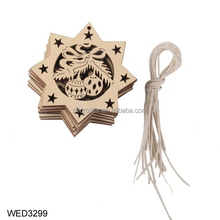 10 Pcs Wood Snowflake Embellishments Rustic Christmas Wooden Snow Decorations