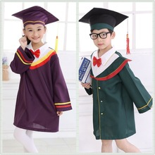 Child Academic Dress for Boys Dr. Cloth Graduated Bachelor Dr. Cap Girl Master's Degree Gown Graduation Clothing & Apparel 18