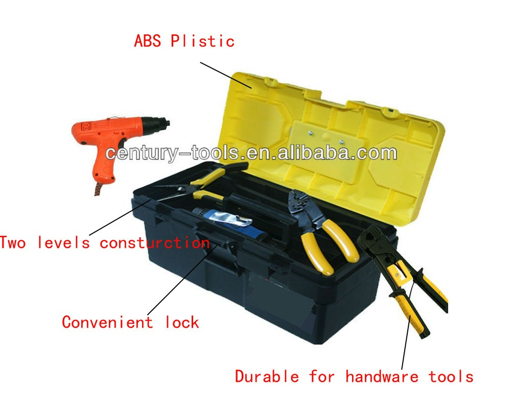 SJ-2019 hot sale wear-resisting professional two layers plastic toolbox in china