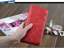 New Designer women's wallet Leather Flower Pattern Ladies Purse Name Brand Clutch Bag