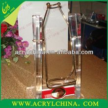 Customized Wholesale Acrylic wine swing holders for wine bottle