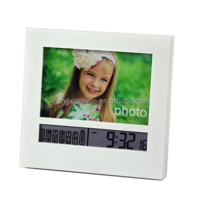 photo frame alarm clock used decorate a room or as gifts